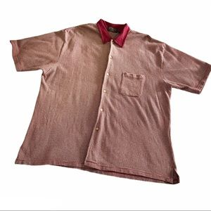 VTG American Eagle Outfitters Maroon Dot Polo L